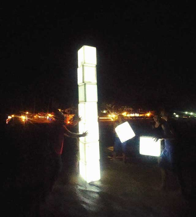 Light boxes on Hikkaduwa